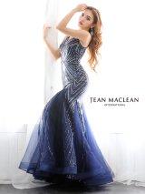 【JEAN MACLEAN/ジャンマクレーン】スパンコール刺繍/ ノースリーブ/ スピンドル/ マーメード/ ロング/ キャバドレス long