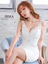 【IRMA/イルマ】 フラワー刺繍/ ノースリーブ/ ストレッチ/ タイト/ ミニドレス/ キャバドレス