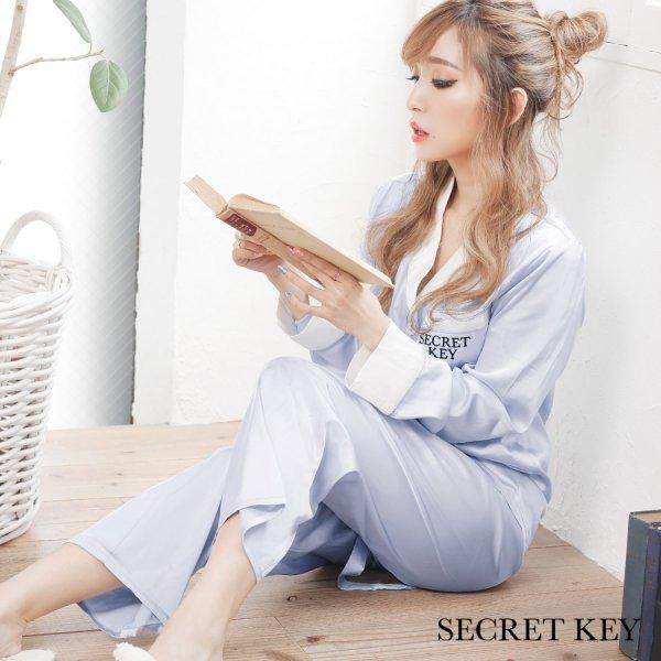 画像1: シルクタッチサテンシャツパジャマ | ロングパンツタイプ[HC02]