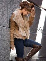 【ANDY コート ジャケット】洗練されたセレブな高級感☆☆ラグジュアリーな印象漂う上質ムートンファーコート *S/Mサイズ・ベージュ