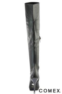 他の写真1: 【COMEX】シンプルストレッチニーハイブーツ★11.5cm