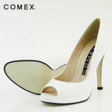 他の写真2: 【COMEX 日本製】シンプルラインで手に入れる脚線美☆マストアイテムオープントゥパンプス10.5cmヒール