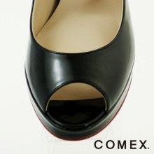 他の写真1: 【COMEX 日本製】シンプルラインで手に入れる脚線美☆マストアイテムオープントゥパンプス10.5cmヒール