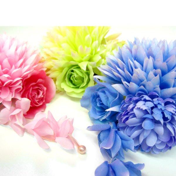 画像4: 【浴衣小物】【3カラー】ミニダリアコサージュ髪飾り