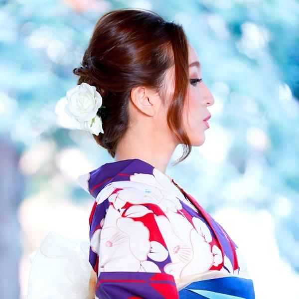 画像4: 【浴衣小物/コサージュ】薔薇コサージュ髪飾り