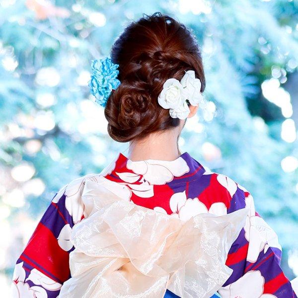 画像5: 【浴衣小物/コサージュ】薔薇コサージュ髪飾り