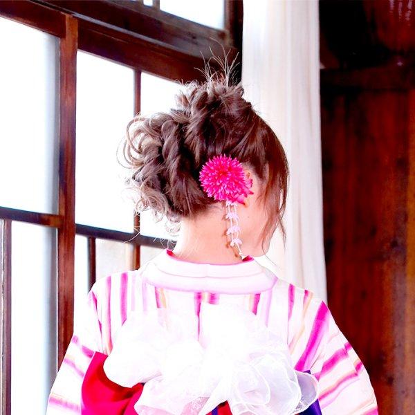 画像5: 【浴衣小物/コサージュ】八重菊コサージュ☆髪飾り