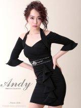 【ANDY】ホルタ―ネックxオフショルタイトミニキャバドレス*S/Mサイズ☆ブラック
