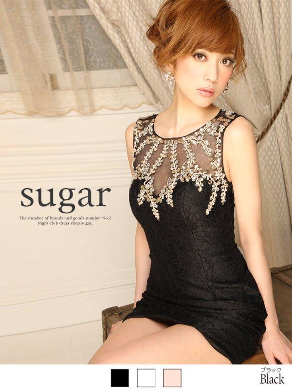 画像1: 新色追加【Lip line/リップライン】ビジューデザインタイトドレス