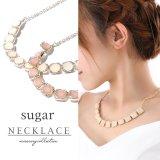 【ネックレス】2color / スクエアビジューネックレス