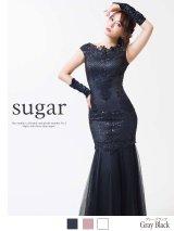 Lサイズあり【Luxe Style/リュクススタイル】スパンコールx刺繍/マーメイド/ロング/キャバドレス