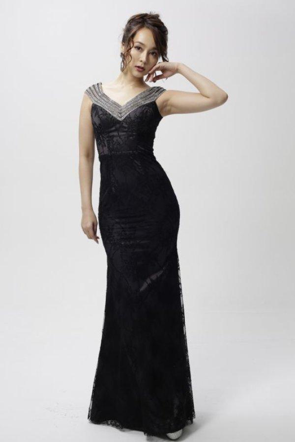 画像1: Lサイズあり【Luxe Style/リュクススタイル】ビジュー/フルレース/マーメイド/キャバドレス long