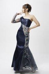 L/XLサイズあり【Luxe Style/リュクススタイル】ワンショル/フラワー刺繍/マーメイド/ロング/キャバドレス long