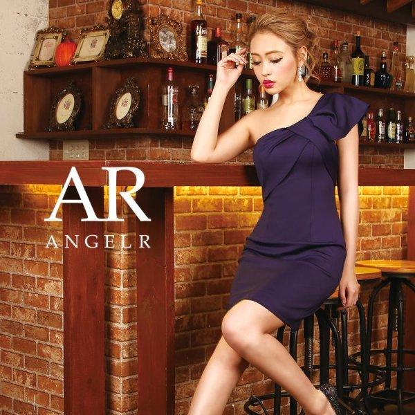 画像2: 【Angel R/エンジェルアール】リボンモチーフ/ワンショル/ワンカラー/キャバドレス
