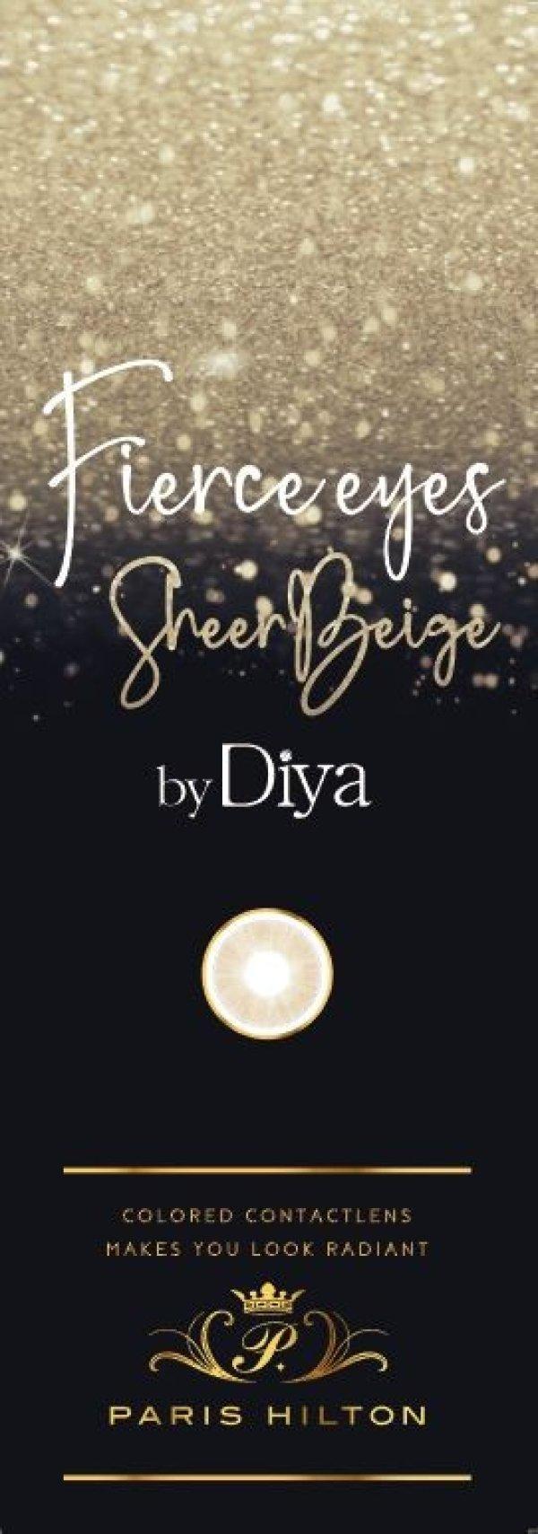 画像3: 【Fierce eyes by Diya(フィアースアイズ バイ ダイヤ)】(シアーベージュ )(1箱10枚) 1日使い捨てカラーコンタクト【カラコン】