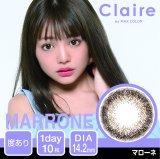 【クレア by MAX COLOR】(マローネ )(1箱10枚入)1日使い捨てカラーコンタクト【カラコン】