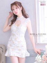 XSサイズあり【ROBE de FLEURS/ローブドフルール】フラワーレース/ スカートパンツ/ セットアップ/ ミニドレス/ キャバドレス