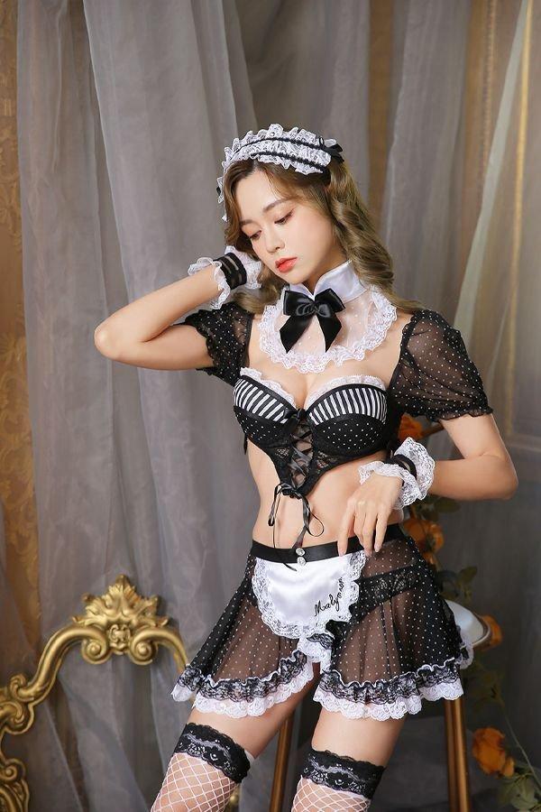 画像2: ゴシックメイド《ハロウィンコスプレ7点セット》【Dreamy Doll/ドリーミードール】[OF03]