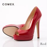 【COMEX】 6color/ 14cmヒール/ オープントゥパンプス