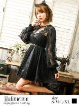 ブラックレースキャットコスプレセット【ハロウィン3点セット】【S〜XLサイズ/1カラー】[HC02]