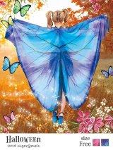 即日発送!【ハロウィン】フェスにもオススメ!インスタ映え確実な蝶々コスプレ【フリーサイズ/2カラー】(S709OMBRE BxP_BxBL)[HC02]