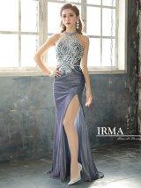 【IRMA/イルマ】ラメ/ 刺繍レース/ スリット/ タイト/ ロングドレス/ キャバドレス long