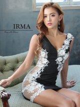 Lサイズあり【IRMA/イルマ】シアーレース / 立体フラワー刺繍/ タイト/ ミニドレス/ キャバドレス
