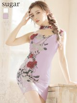 【IRMA/イルマ】フラワー刺繍/ チョーカー風デザイン/ ワンショル/ タイト/ ミニドレス/ キャバドレス