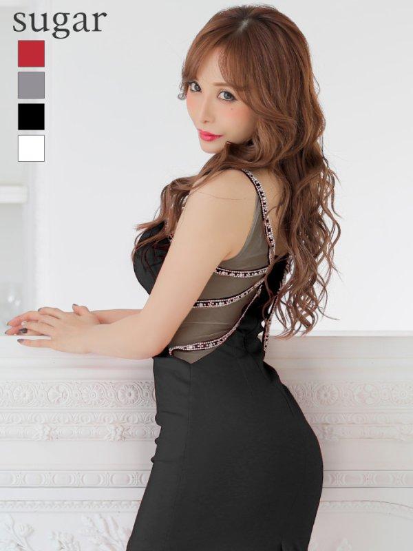 【Jessica/ジェシカ】ワンカラー/シアーレース/ストレッチ/キャバドレス ブラック