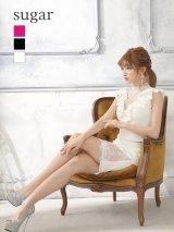 【an_selection_Vol.18掲載商品】フリルライン /ワンカラー /レース /タイト /キャバドレス