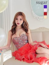 【Angel R/エンジェルアール】【17color】ビジュー/ ベア/ ショートinロング/ プリンセス / キャバドレス long