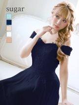 【Lip line/リップライン】フラワー刺繍 /Aライン /シフォン /キャバドレス long