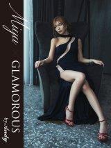 【Miyu × GLAMOROUS by Andy COLLECTION 】ワンカラー/ シアーレース/ストレッチ/ロングドレス /キャバドレス long