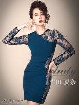 Andy ANDY FashionPress 02 COLLECTION 06【ANDY/アンディ】レース/ 切替/ タック/ 長袖/ タイト/ ミニドレス/ キャバドレス