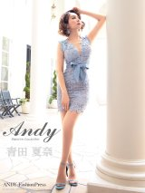 Andy ANDY Fashion Press 06 COLLECTION 02【ANDY/アンディ】フラワーレース/ ウエストリボン/ タイト/ ミニドレス/ キャバドレス