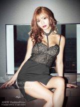 【Miyu × GLAMOROUS by Andy COLLECTION】ワンカラー/ レース/ ストレッチ/タイト/ミニドレス /キャバドレス