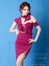 【GLAMOROUS ANDY Fashion Press 05 COLLECTION 02】ワンカラー/ アシメデザイン/ シアー/ タイト/ ミニドレス / キャバドレス
