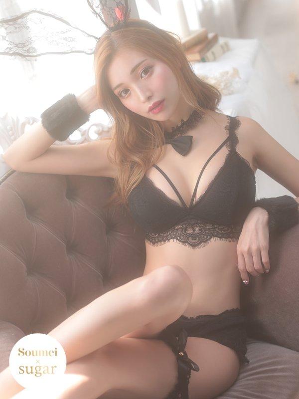 画像1: MIYUちゃん コラボセクシーバニーコスプレセット【sugar nineハロウィン6点セット】【2サイズ/1カラー】【OF03】