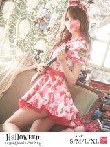 ピンクアーミーワンピース【ハロウィン3点セット】【S-XLサイズ/1カラー】(STEE06 W)[HC02]
