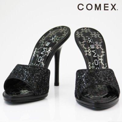 画像3: 【COMEX】3カラー☆グリッターラメミュールサンダル☆10.5cm