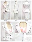 画像6: 【FlowTide/フロータイド】丈長めの上品デザイン★インナータイダイフラワーが夏を先取り♪スーツ4点セット・ホワイト (6)