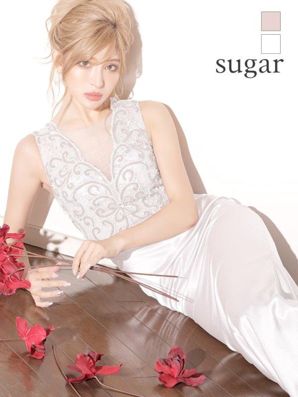 画像1: 即日発送!! L/XLサイズあり【Luxe Style/リュクススタイル】ビーズ刺繍 /シアーレース /サテン /ロング /キャバドレス long (1)