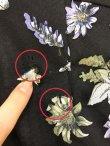 画像2: 【B品】フラワー刺繍/レースアップ/タイト/キャバドレスBBB (2)