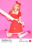 画像1: 【値下げ!】【ハロウィン2点セット】ナースコスプレ(5726socksSB)[HC02] (1)