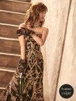 画像3: Lサイズあり【JEAN MACLEAN/ジャンマクレーン】スパンコール刺繍/ ベア/ フリルデザイン/ ロング/ キャバドレス long (3)