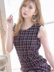 画像10: 【ERUKEI エルケイ】ツイード/ ノースリーブ/ 台形スカート/ ミニドレス/ キャバドレス (10)
