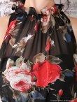 画像14: 即日発送!!【an/アン】フラワープリント/ シフォン/ タイト/ キャバドレス (14)