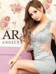 【Angel R/エンジェルアール】レース刺繍/ ビジュー/ タイト/ ミニドレス/ キャバドレス グレー